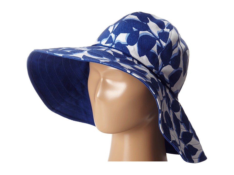 Kate Spade New York - Printed Reversible Garden Hat (Hyacinth) Caps