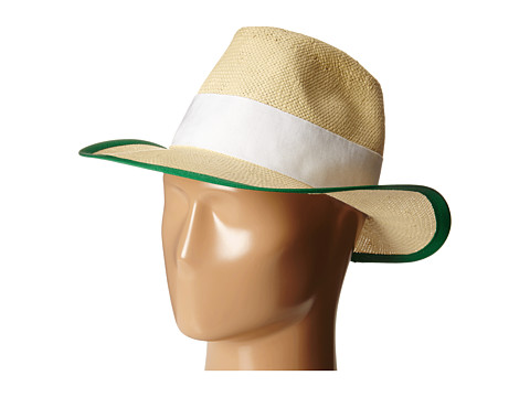 Kate Spade New York - Panama Hat (Lucky Green) Traditional Hats