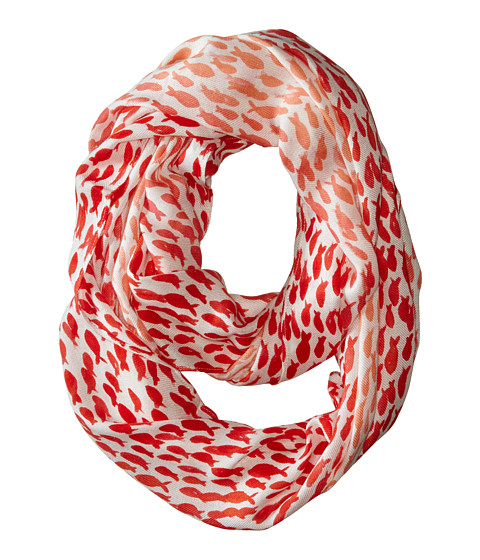 Kate Spade New York - School Of Fish Infinity Scarf (Light Coral) Scarves