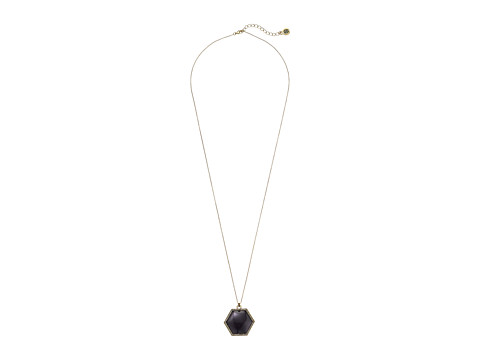 House of Harlow 1960 - Hexes Pendant Necklace (Black) Necklace