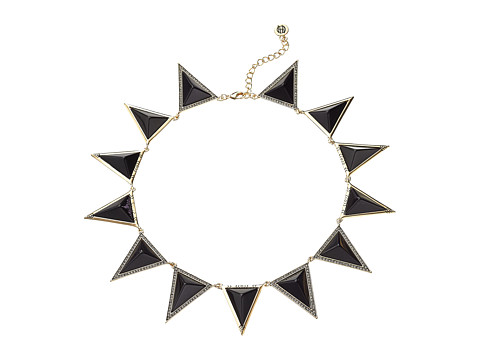 House of Harlow 1960 - Triangle Theorem Collar Necklace (Black) Necklace