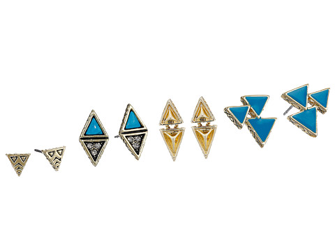House of Harlow 1960 - Tessellation Stud Earring Set (Turquoise) Earring