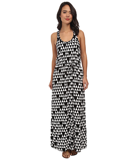 Seafolly - Tri Me Maxi Cover-Up (Black/White) Women's Swimwear