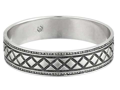 House of Harlow 1960 - Shakti Engraved Bangle (Silver) Bracelet