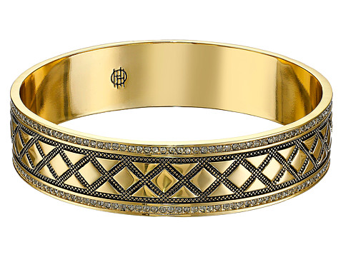 House of Harlow 1960 - Shakti Engraved Bangle (Gold) Bracelet