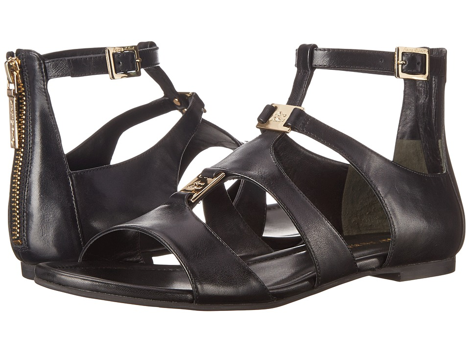 Pierre Balmain - Leather Cono Sandal (Black) Women's Sandals