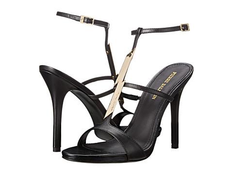 Pierre Balmain - Lightning Bolt Heeled Sandal (Black Calf) Women's Dress Sandals