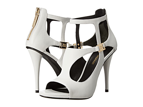 Pierre Balmain - Cutout Open Toe Sandal (White) Women's Sandals