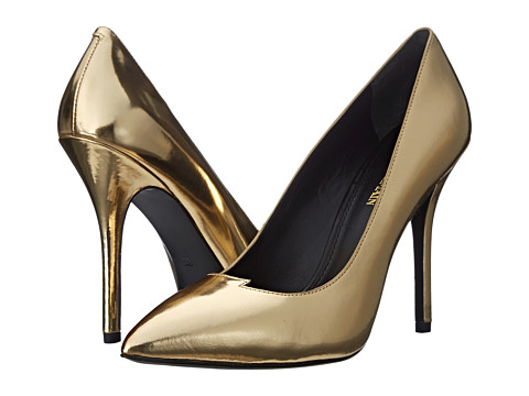 Pierre Balmain - Metallic Lightning Bolt Pump (Gold Mirror) Women