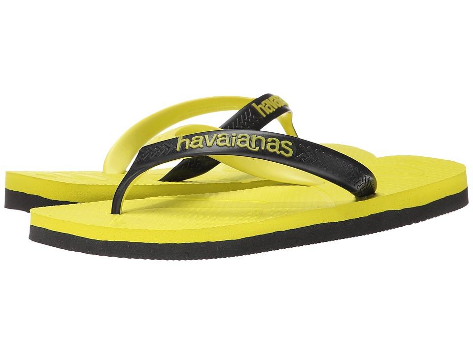 Havaianas - Casual Flip Flops (Neon Yellow) Men