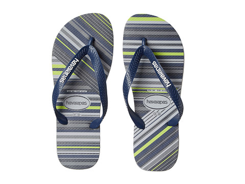 Havaianas - Trend Flip Flops (Grey/Navy Blue/White) Men's Sandals