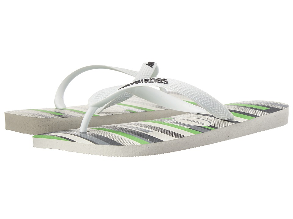 Havaianas - Trend Flip Flops (White/White/Grey) Men's Sandals