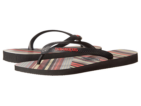 Havaianas - Trend Flip Flops (Black/Apache Red) Men's Sandals