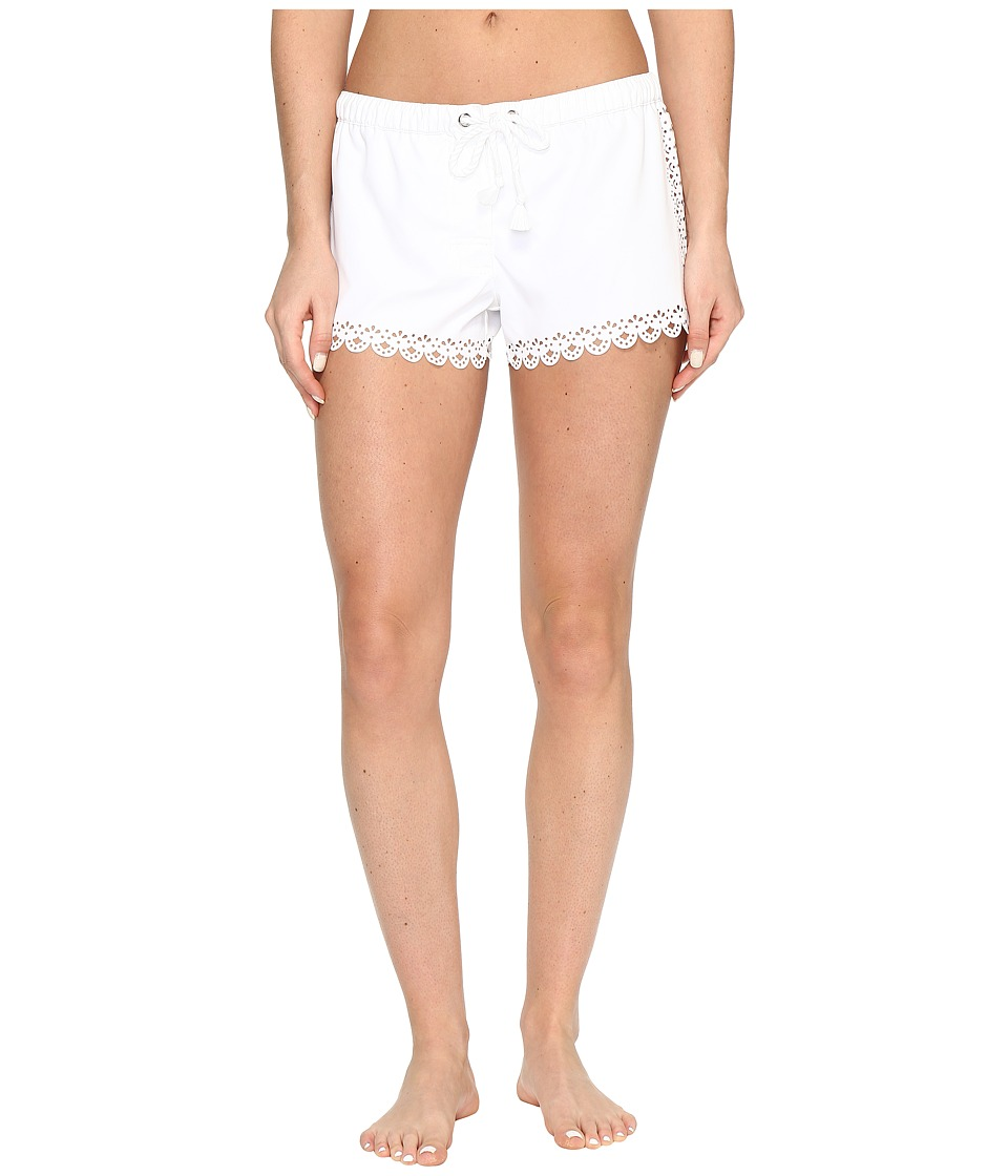 Seafolly - Bella Rose Boardshort (White) Women's Swimwear