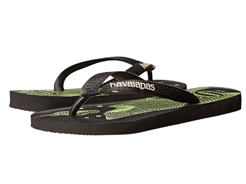 Havaianas - 4 Nite Flip Flops (Black/Black) Men's Sandals