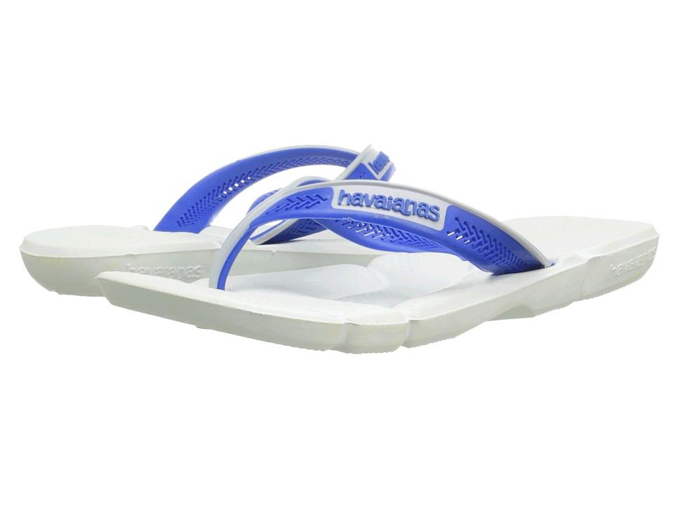 Havaianas Power Flip Flops (White/Blue/Grey) Men
