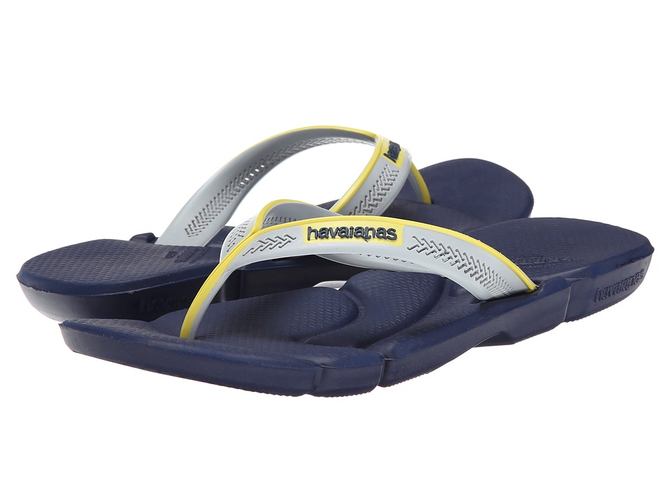 Havaianas - Power Flip Flops (Navy Blue/Navy Blue) Men's Sandals