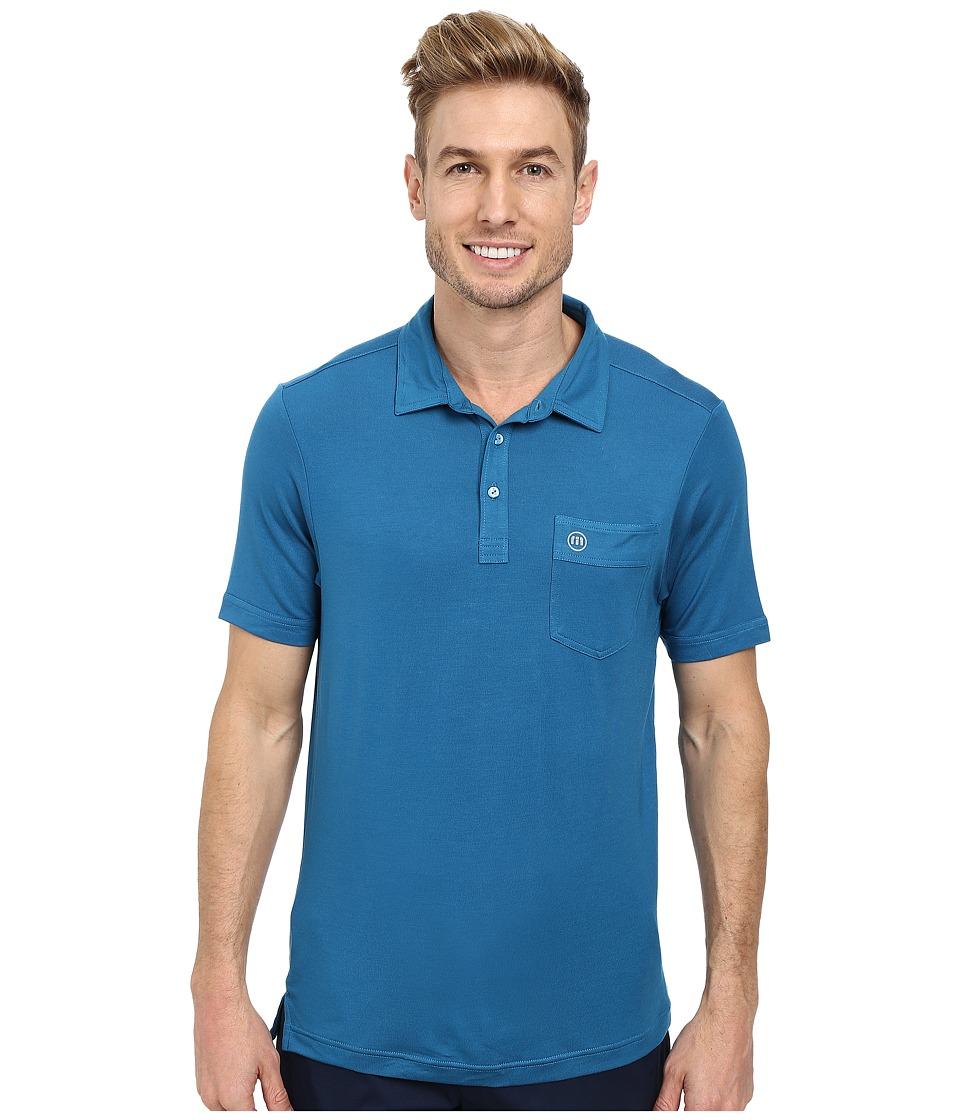 TravisMathew - Walters Polo (Blue Sapphire) Men's Short Sleeve Knit