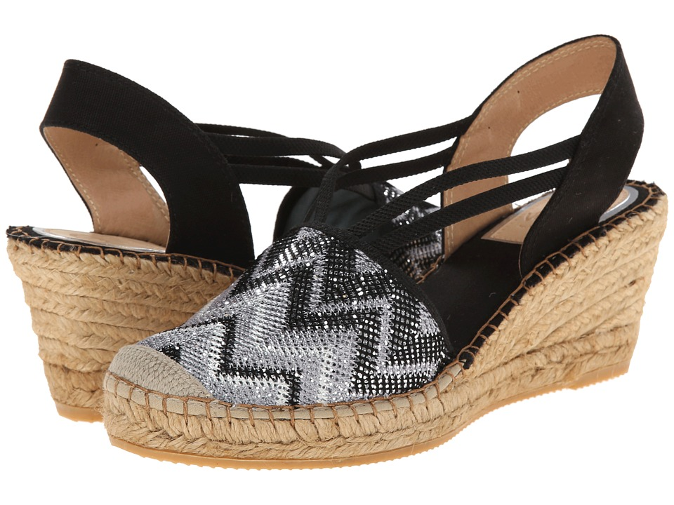 Vidorreta - Lulu (Black Lace) Women's Wedge Shoes