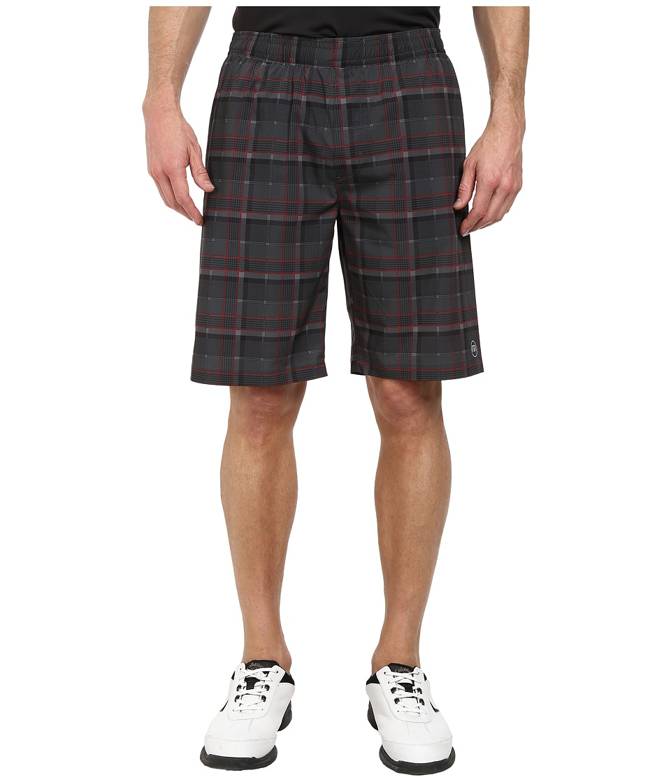 TravisMathew - Peyton Bottom (Dark Shadow Plaid) Men's Shorts