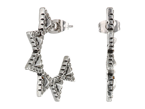 House of Harlow 1960 - Geodesic Triangle Mini Hoops Earrings (Silver) Earring