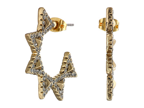 House of Harlow 1960 - Geodesic Triangle Mini Hoops Earrings (Gold) Earring