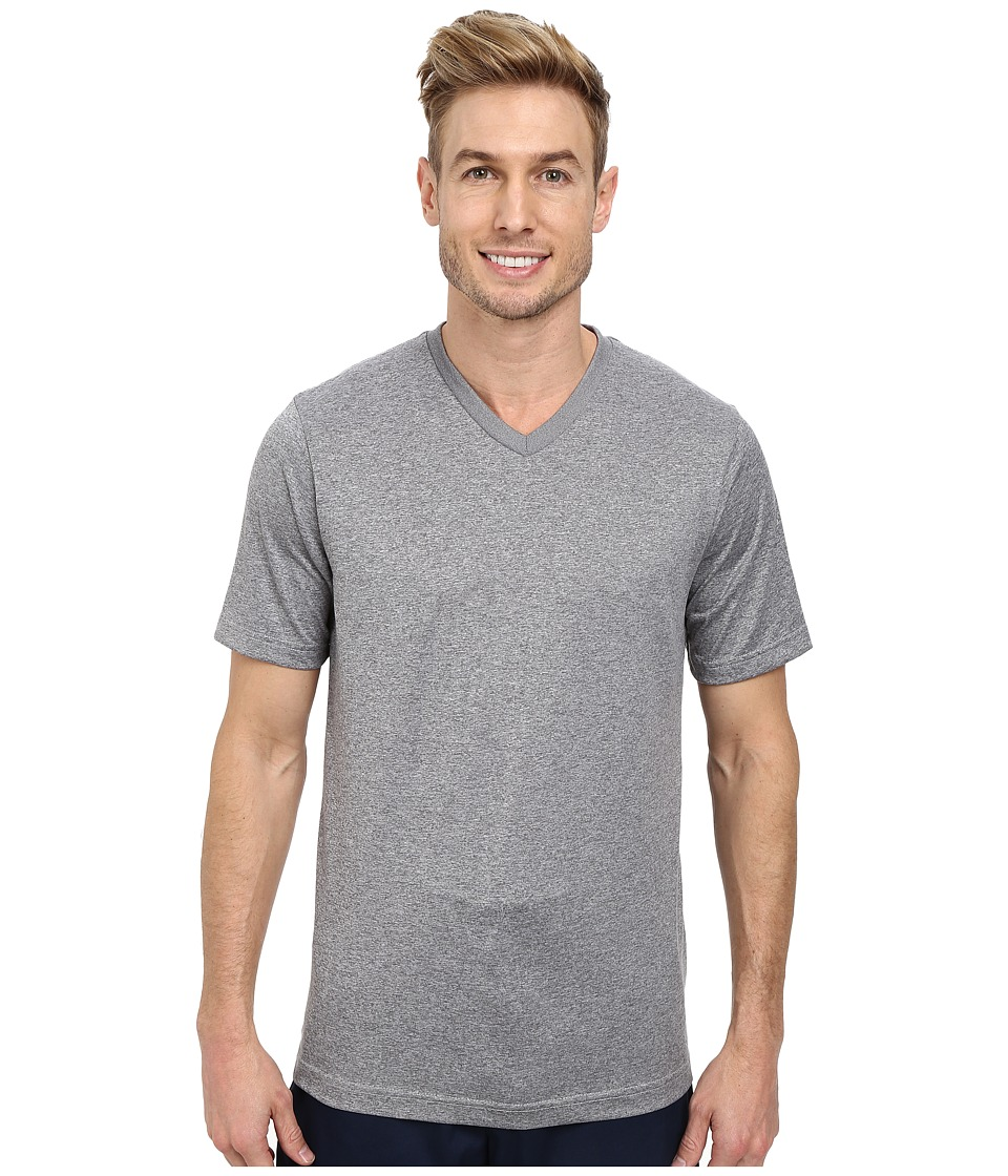 TravisMathew - Peter Top (Heather Monument) Men's Short Sleeve Knit