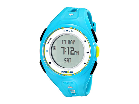 Timex - Ironman Run X20 GPS Watch (Brlght Blue/Lime/White) Watches