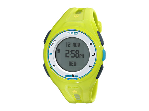 Timex - Ironman Run X20 GPS Watch (Neon Green/Bright Blue/White) Watches