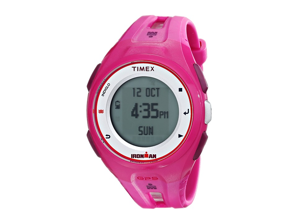Timex - Ironman Run X20 GPS Watch (Hot Pink/Charcoal/White) Watches