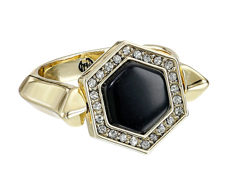 House of Harlow 1960 - Hexes Flip Ring (Black) Ring