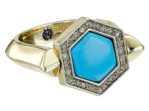 House of Harlow 1960 - Hexes Flip Ring (Turquoise) Ring
