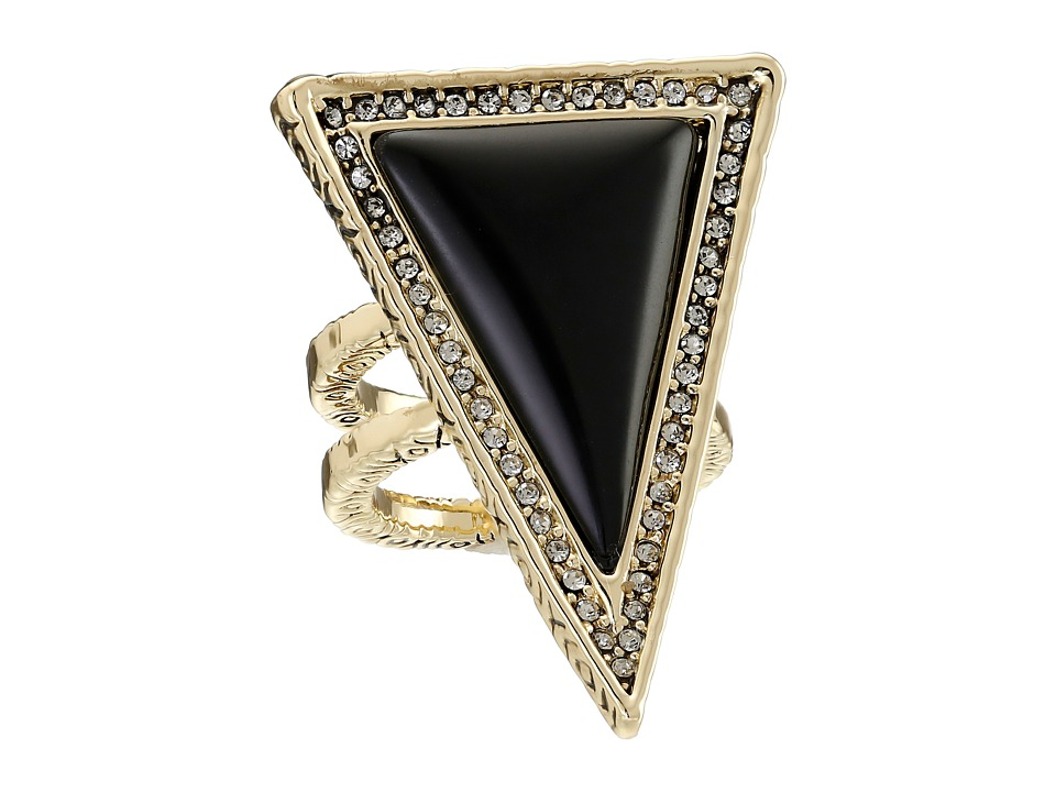 House of Harlow 1960 - Triangle Theorem Ring (Black) Ring