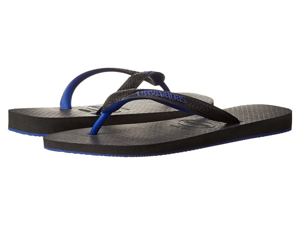 Havaianas - Top Tred Flip Flops (Black/Blue) Men's Sandals