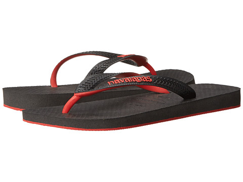 Havaianas - Top Tred Flip Flops (Black/Red) Men's Sandals