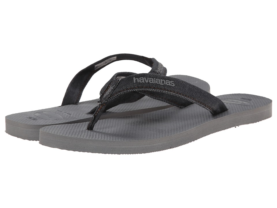 Havaianas - Urban Jeans Flip Flops (Steel Grey) Men's Sandals