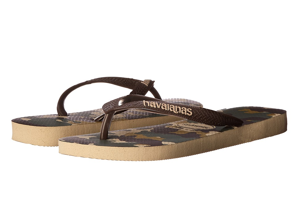 Havaianas - Top Camuflada Flip Flops (Sand Grey) Men's Sandals