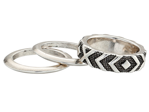 House of Harlow 1960 - Shakti Midi Ring Stack (Silver) Ring