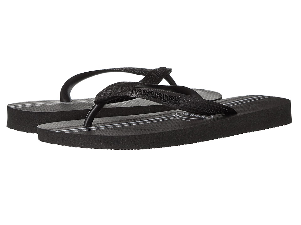 Havaianas - Top Basic Flip Flops (Black) Men's Sandals