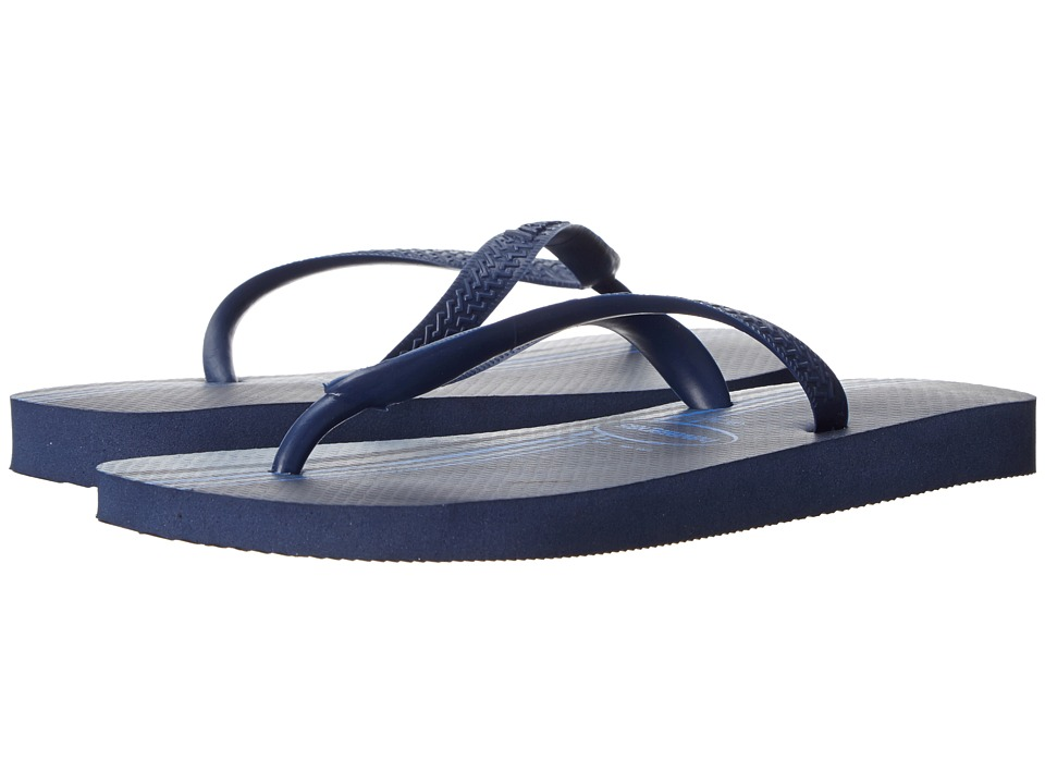 Havaianas - Top Basic Flip Flops (Navy Blue) Men