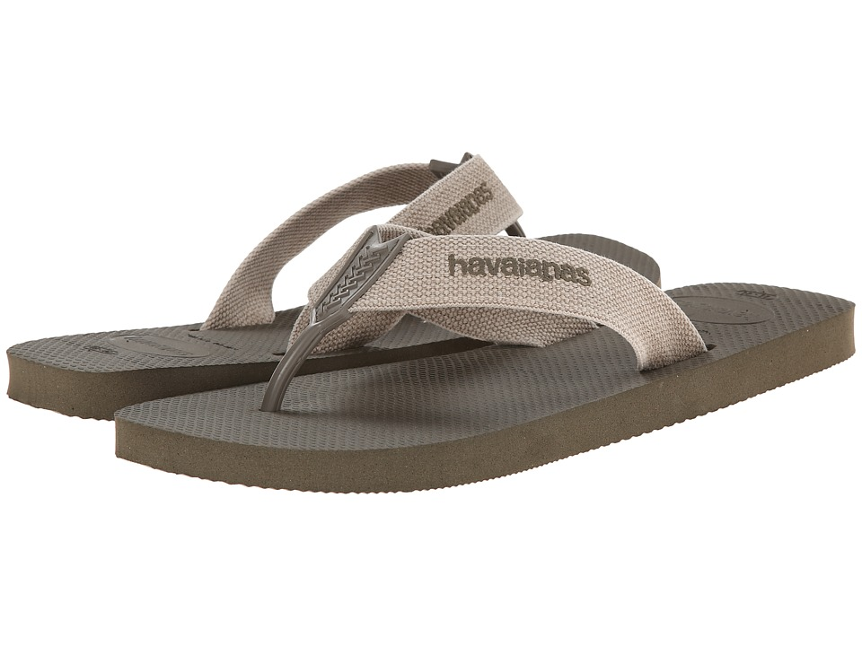 Havaianas - Urban Basic Flip Flops (Dark Khaki) Men's Sandals