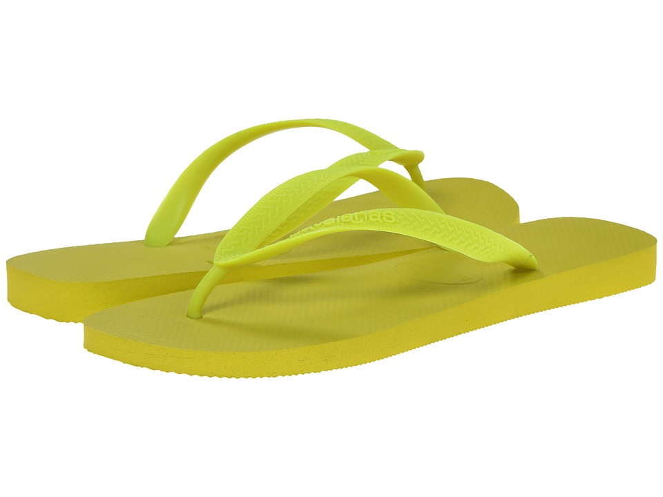 Havaianas - Top Flip Flops (Neon Yellow/Yellow) Men's Sandals
