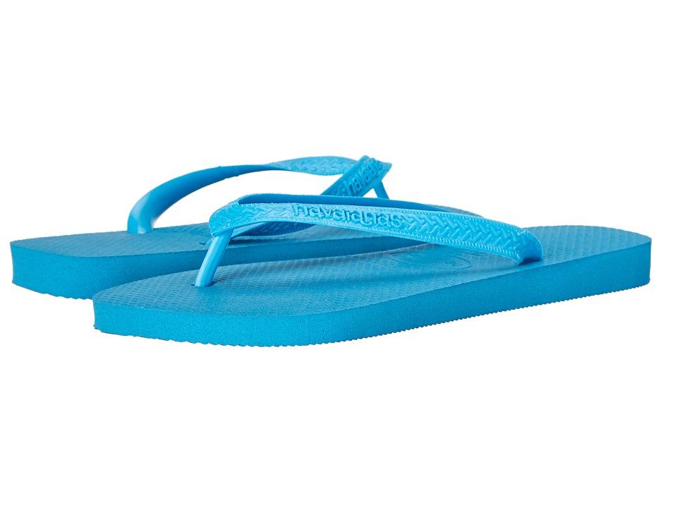 Havaianas - Top Flip Flops (Turquoise) Men's Sandals