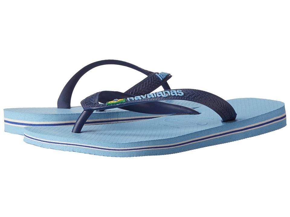 Havaianas - Brazil Logo Flip Flops (Lavender Blue) Men's Sandals