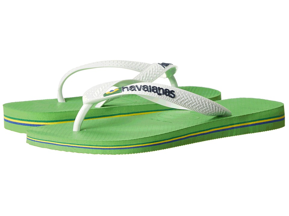 Havaianas - Brazil Logo Flip Flops (Neon Green) Men