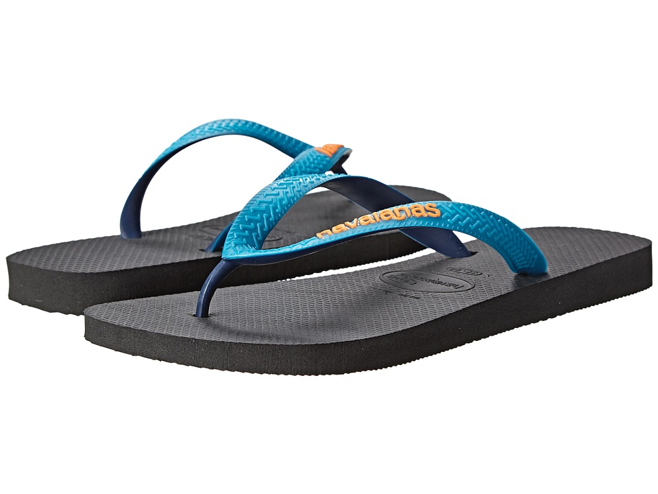 Havaianas - Top Mix Flip Flops (Black/Capri) Men