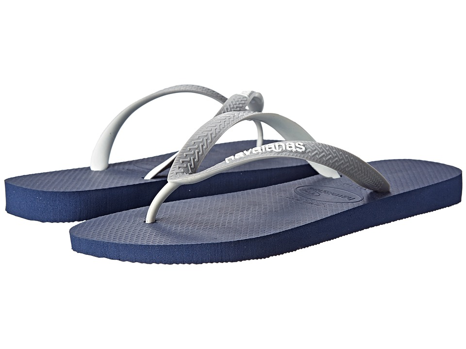 Havaianas - Top Mix Flip Flops (Navy Blue/Grey/White) Men's Sandals