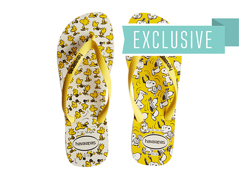 Havaianas - Snoopy Flip Flops (White/Citrus Yellow) Men