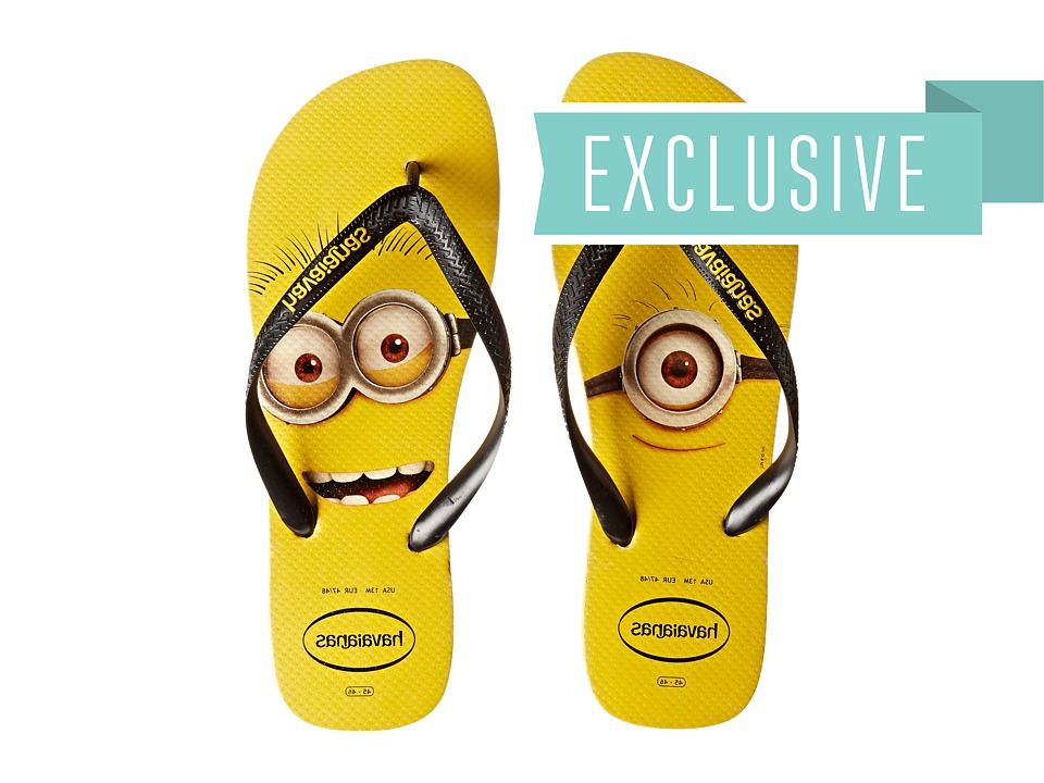 Havaianas - Minions Flip Flops (Citrus Yellow) Men's Sandals