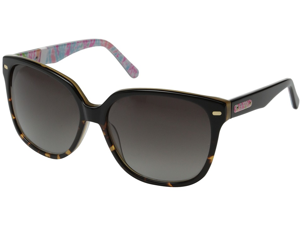Lilly Pulitzer - Courtney (Black Tortoise/Lets Cha Cha) Fashion Sunglasses